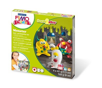 Fimo kids form & play monsters.
