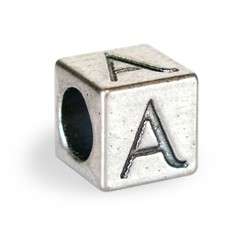 Name charm letter A.