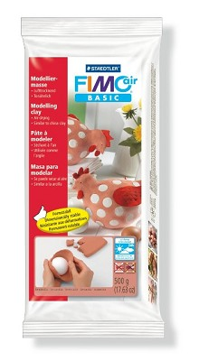Fimo air klei 500 gram terracotta.