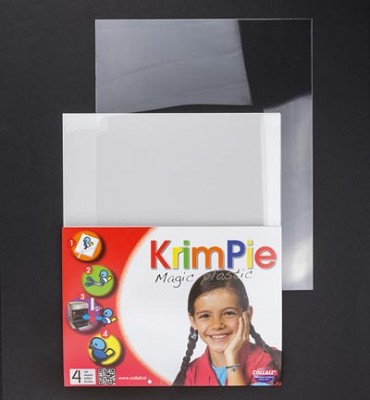 Krimpie Magic Plastic Transparant. 4 vellen.