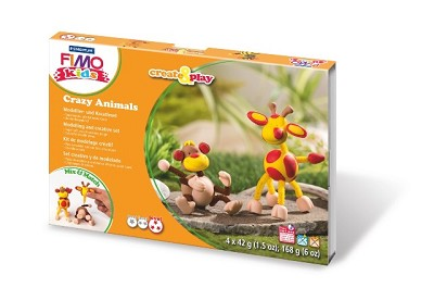 Fimo kids create & play aap en giraf.