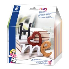 "***FIMO® soft DIY Home deco set ""Letters"" DIY sets."
