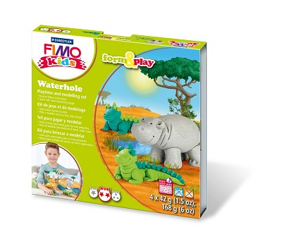 Fimo kids form & play waterhole.