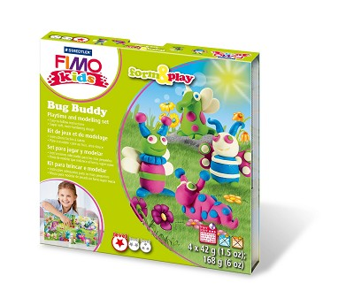 Fimo kids form & play bug buddy.