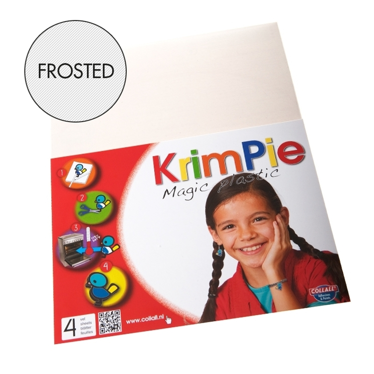 Krimpie Magic Plastic Frosted. 4 vellen.