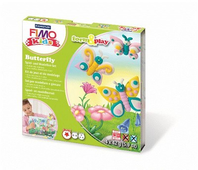 fimo kids form play vlinder fimoklei shop goedkope fimoklei materialen online te bestellen. Black Bedroom Furniture Sets. Home Design Ideas