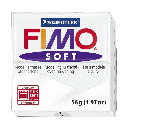 Fimo klei soft wit nr. 0.